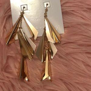 New Geometric rose gold earrings Forever21